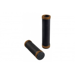 Brooks Cambium rubber grips - Black/Bronze (130mm) - stock photo