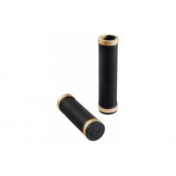 Brooks Cambium rubber grips - Black/Old Copper (130mm) - stock photo