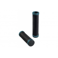 Brooks Cambium rubber grips - Black/Octane (130mm) - stock photo