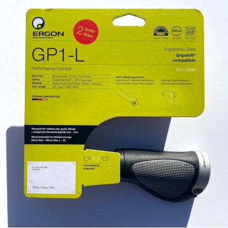 Ergon GP1-L Handlebar grips - large - short (100mm) - in packaging