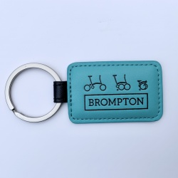 Brompton Key Fob - Turkish Green - Front