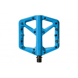 crankbrothers stamp 1 flat MTB pedal - Turquoise - Large - stock photo