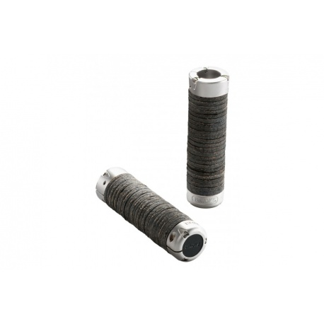 Brooks plump leather grips - Black (130mm) - stock photo
