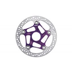 Hope RX centre lock disc - 160mm - purple - stock photo