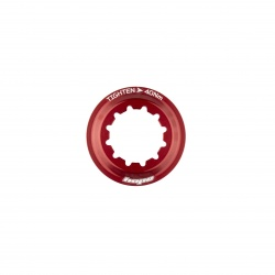 Hope Centre Lock Disk Lockring - red - stock photo