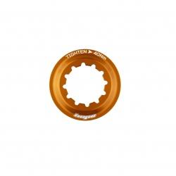 Hope Centre Lock Disk Lockring - orange - stock photo