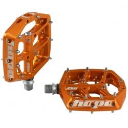 Hope F20 pedals - Orange - Pair - stock photo
