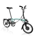 Brompton Electric M6L folding bike - Turkish Green