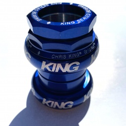 Chris King Brompton compatible headset - blue bold logo