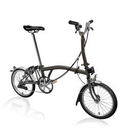 Brompton 2021 Black Lacquer coloured M6L folding bike