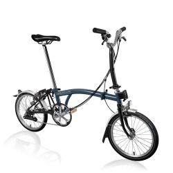 Brompton M6L folding bike - Tempest Blue / Black