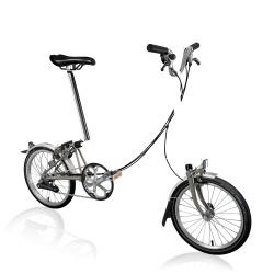 Brompton M6L folding bike - Black Lacquer / Titanium
