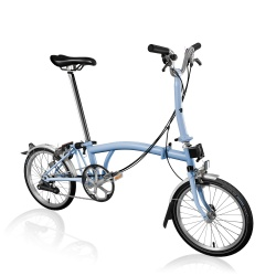 Brompton M6L folding bike - Cloud Blue