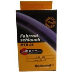 MTB Inner tube 26 x 1.75 - 2.5 inch by Continental - presta valve