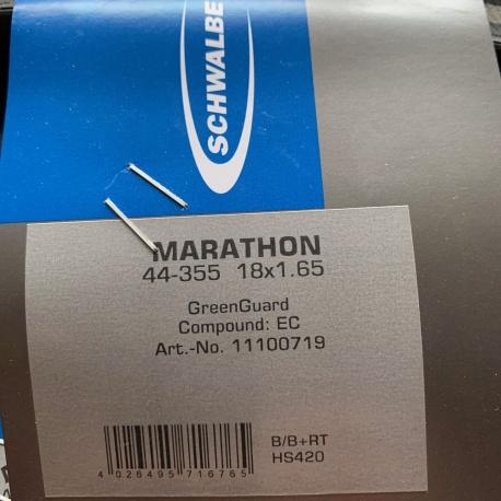 Schwalbe Marathon 18 x 1.65 RaceGuard reflective tyre