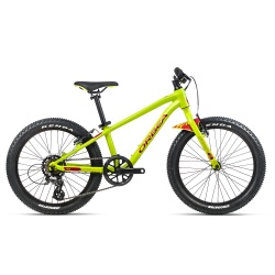 Orbea MX20 Dirt Kids mountain bike 2021 - Lime & Watermelon - Side on