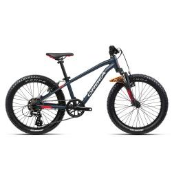 Orbea MX20 XC Kids mountain bike 2021- Blue and Red - Side on