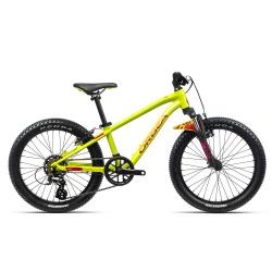 Orbea MX20 XC Kids mountain bike 2021- Lime & Watermelon - side on