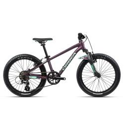 Orbea MX20 XC Kids mountain bike 2021- Purple & Mint - side on