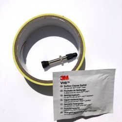 Hope Tubeless Kit - 25mm Tape (Suits Fortus 23W) - Contents