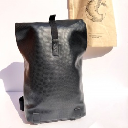 Brooks Pickwick Reflective Leather Backpack - 12L Black - Front view