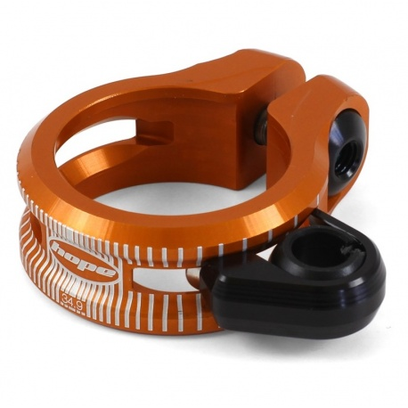 Hope dropper seat post clamp - 34.9mm - Orange - stock photo
