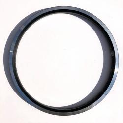 "Brompton BLACK 16 x 1 3/8"" double wall angle drilled wheel rim 28 hole - Whole rim"
