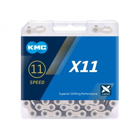 KMC X11 11-speed MTB/road bike chain - stock photo